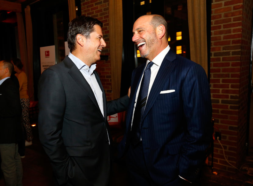 Christian Seifert (CEO DFL) and Don Garber (Commissioner MLS)